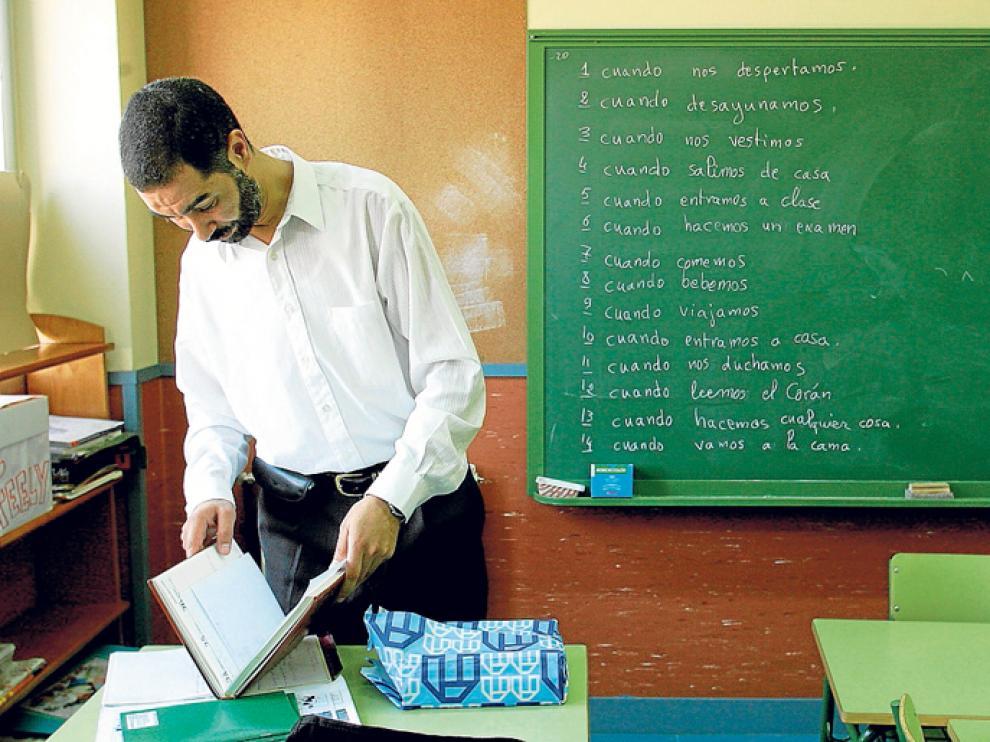 Clase de Cultura Islámica en un centro educativo aragonés.
