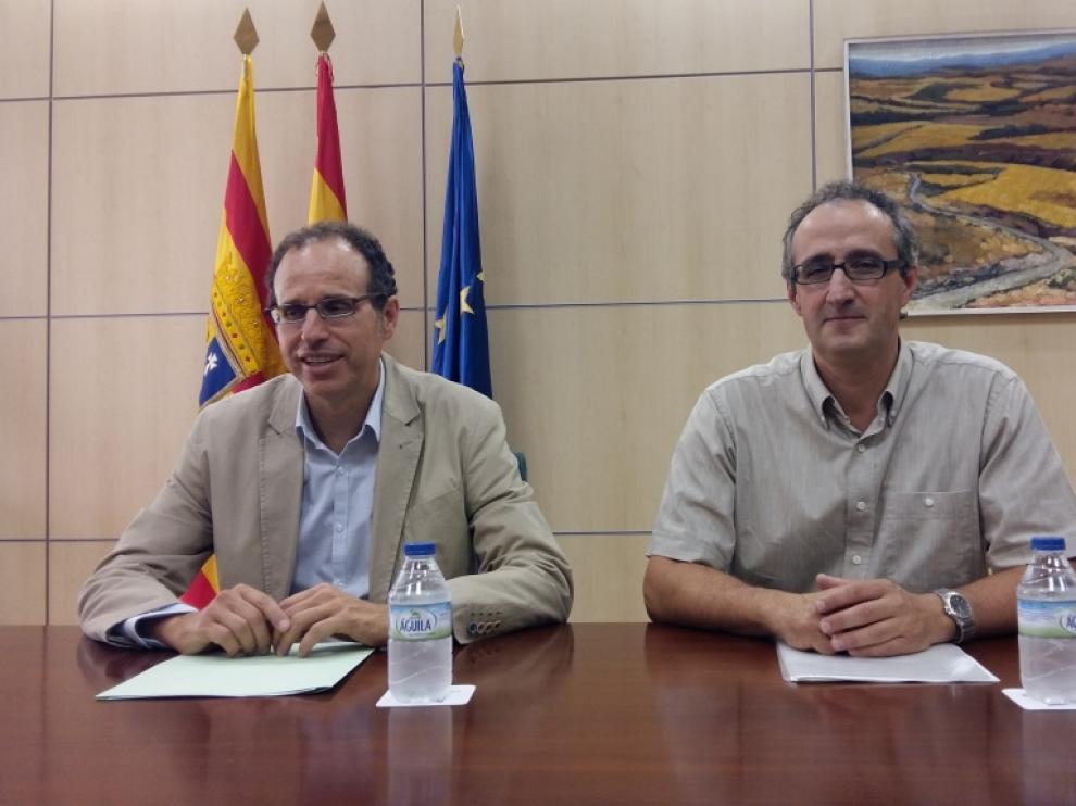 Jesús Nogués (izquierda) y Javier Escartín.
