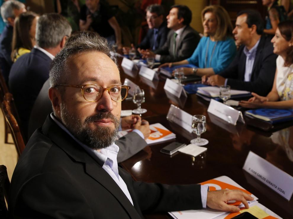 El integrante del equipo negociador de Ciudadanos Juan Carlos Girauta