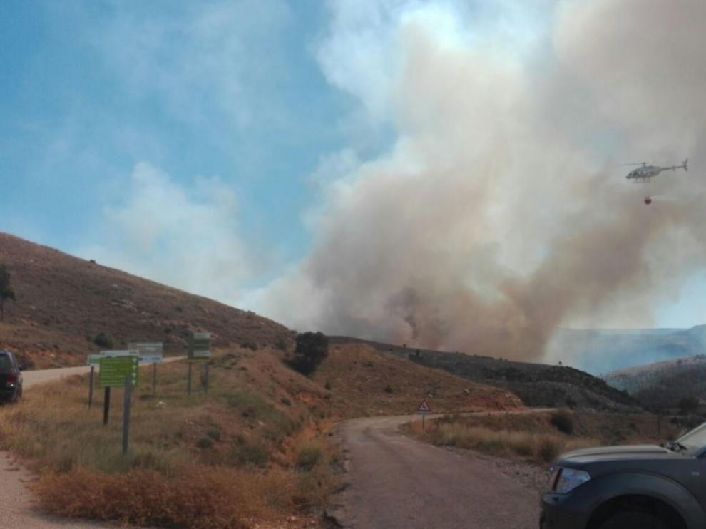 Incendio en Ejulve (Teruel). @Remercieza