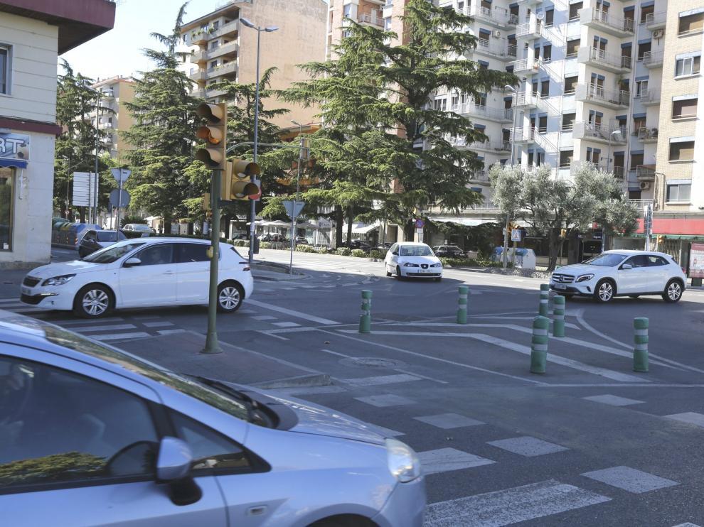 Rotonda de la Avenida Ramón y Caja, Huesca