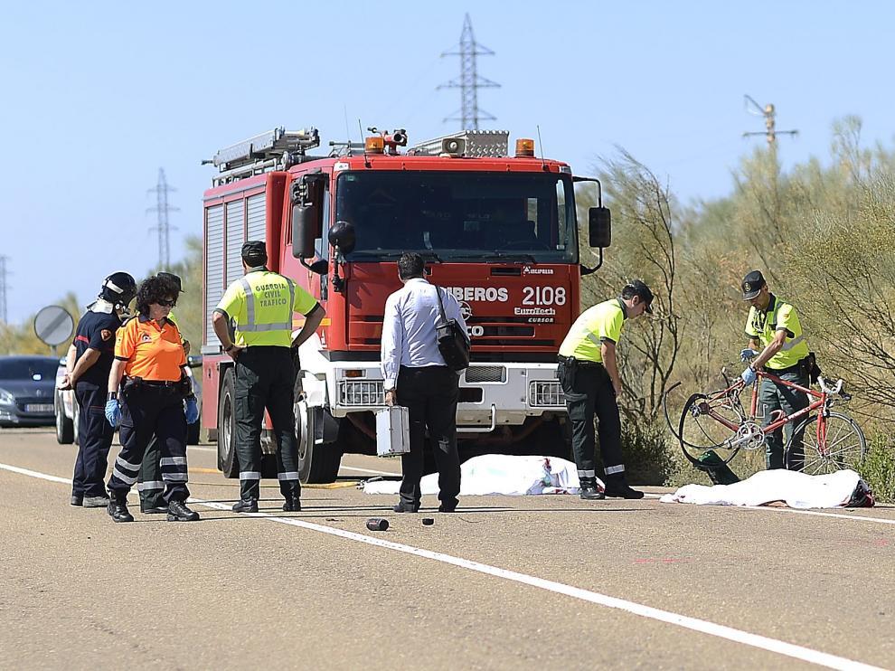 El accidente se produjo poco antes de las diez de la mañana del 21 de agosto en Botorrita.