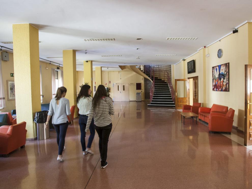 Interior del colegio mayor Pedro Cerbuna.