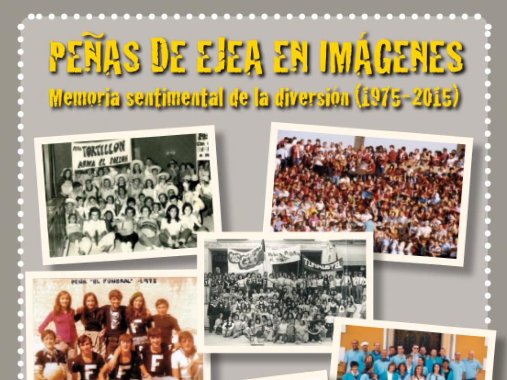 Cartel de la exposición fotográfica sobre las peñas de Ejea de los Caballeros.