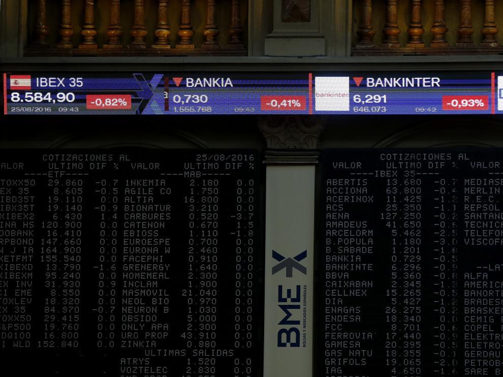 La Bolsa española, este jueves.