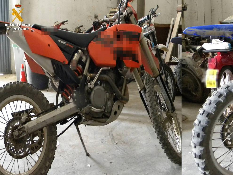 Una de las motocicletas robadas.