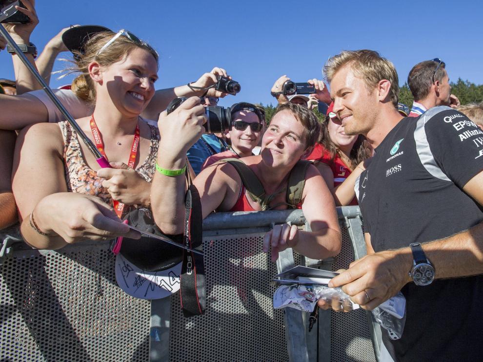 El piloto de Fórmula Uno Nico Rosberg en Bélgica