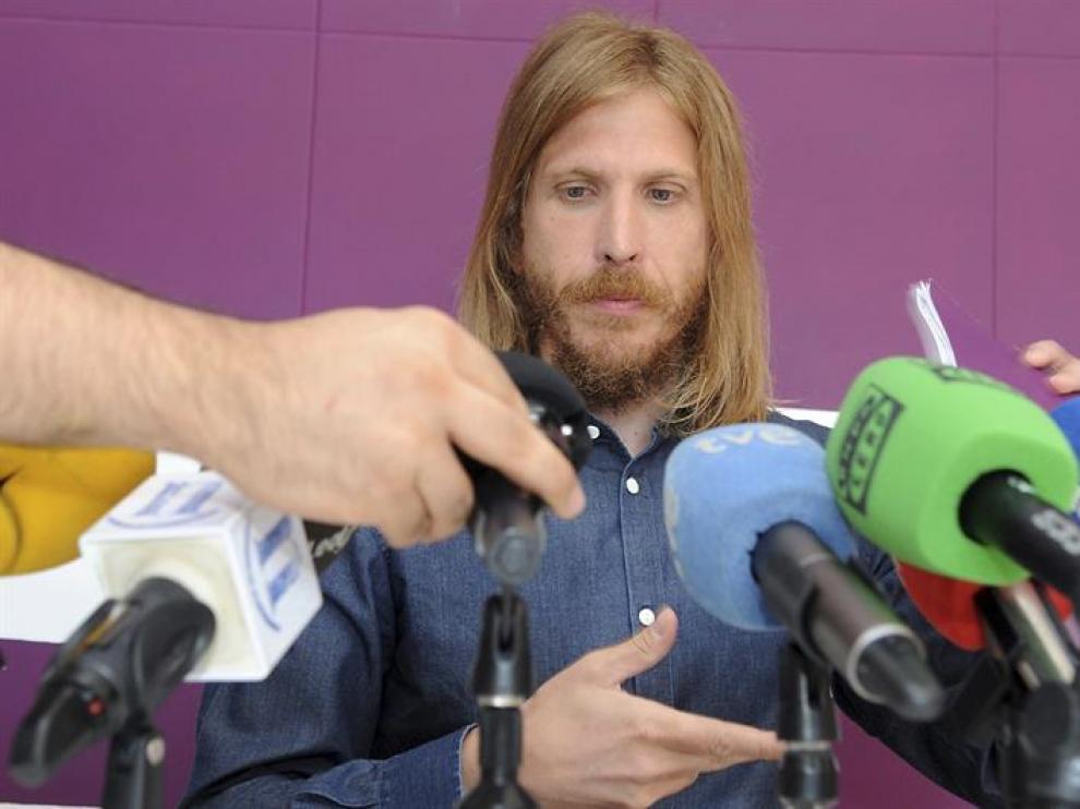 El secretario general de Podemos Castilla y León, Pablo Fernández, en una imagen de archivo