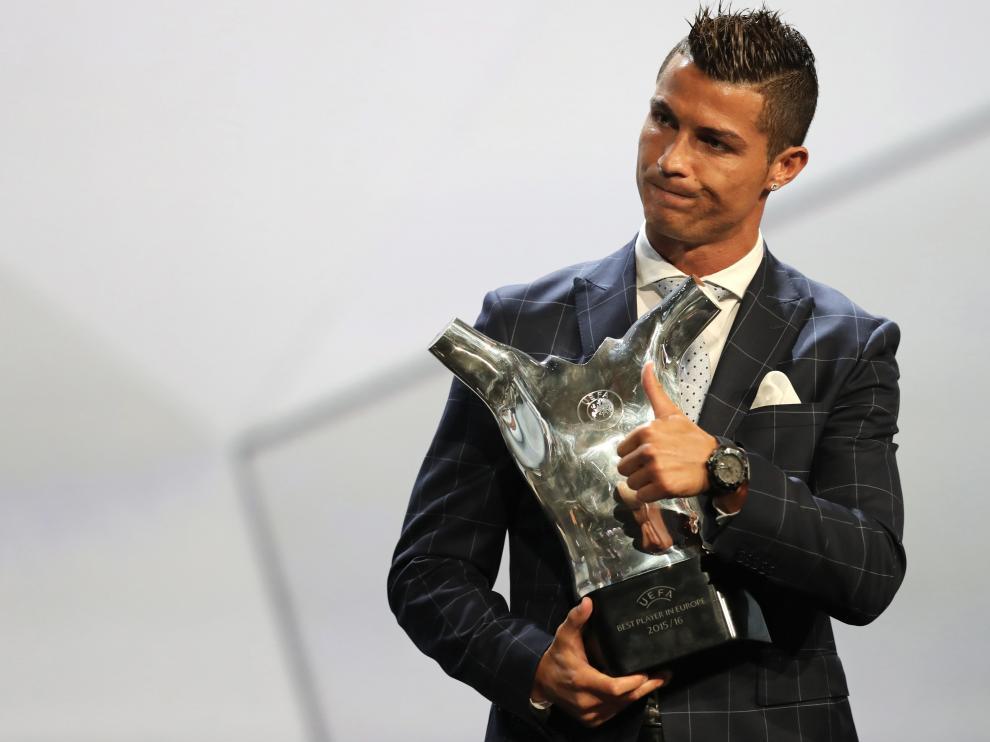 Cristiano Ronaldo durante el evento de la UEFA