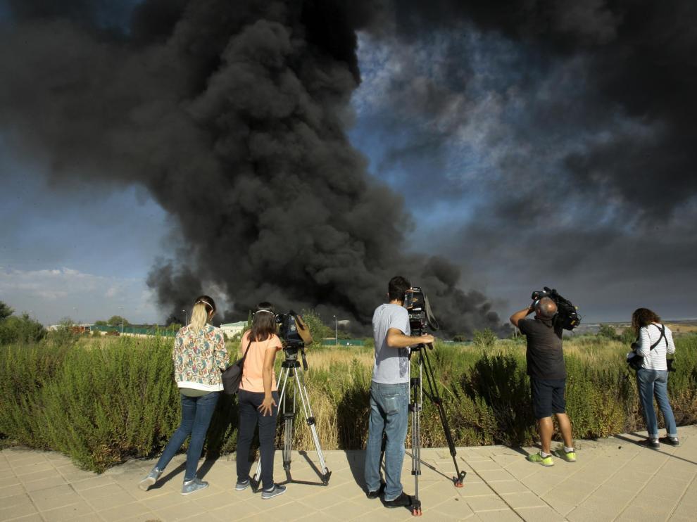 Se incendia una nave en Chiloeches que estaba cerrada por incumplir normativa