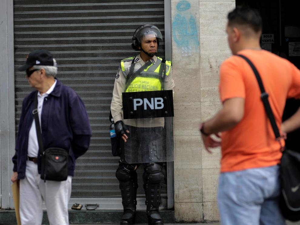 Foto archivo de una manifestación de estudiantes universitarios en Caracas