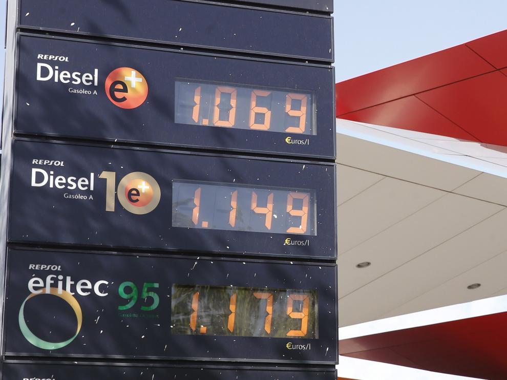 La operación retorno de este fin de semana comienza con los carburantes de automoción en alza