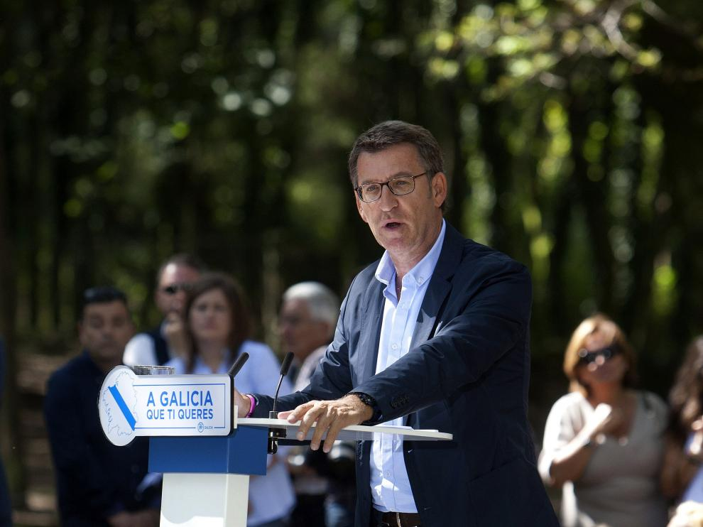 Feijoo, candidato del PP a la Xunta de Galicia.