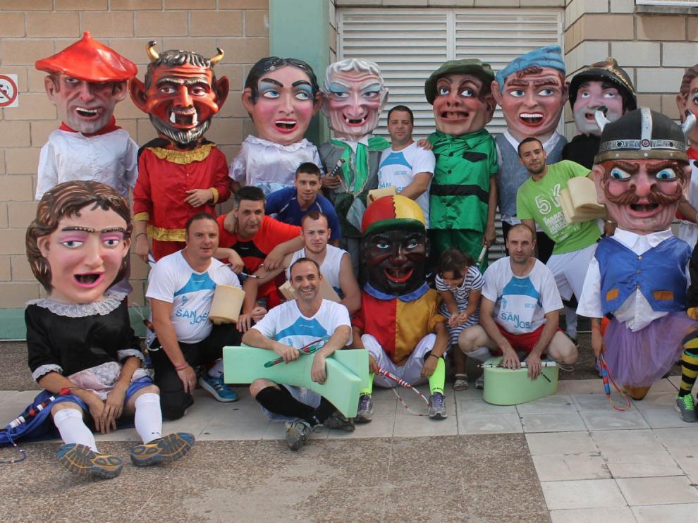 Los cabezudos, grandes protagonistas de las fiestas de San José