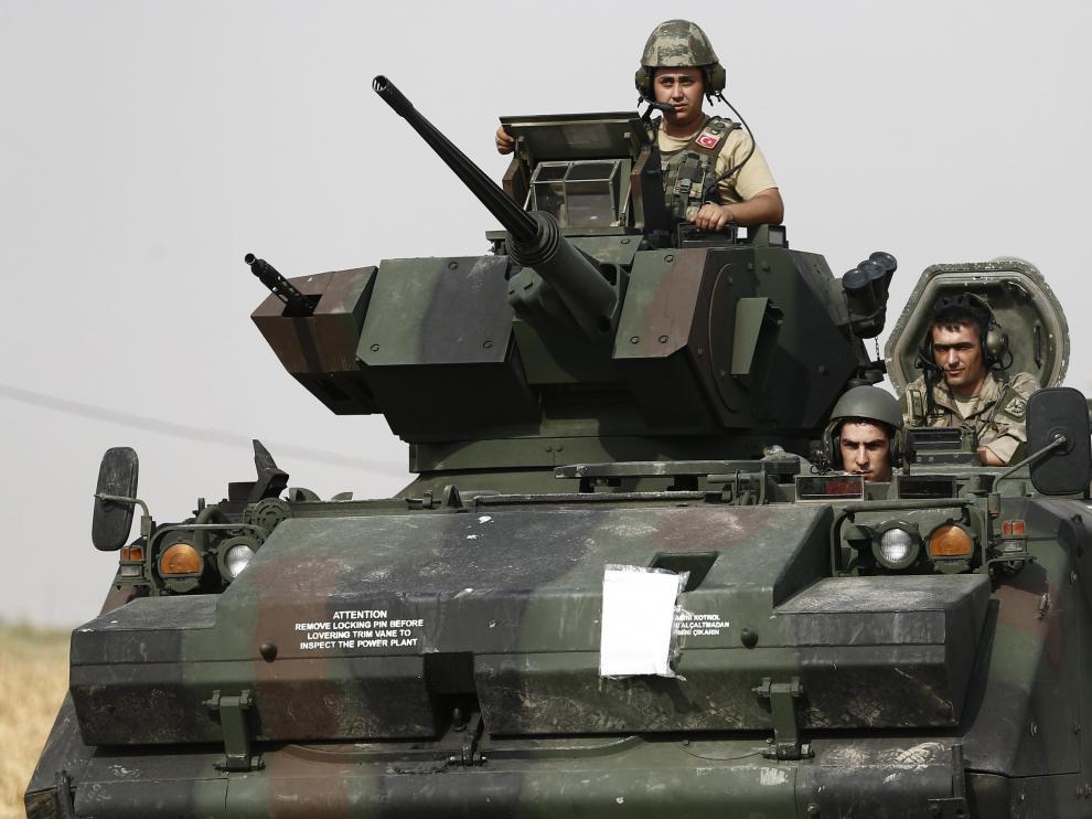 Operación militar turca en la frontera con Siria.