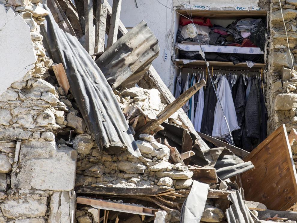 Destrozos que causó el terremoto en Amatrice.