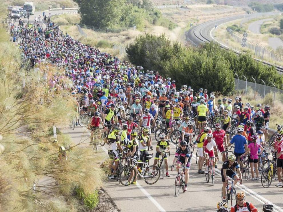 Marcha ciclista de Zarragoza a Botorrita