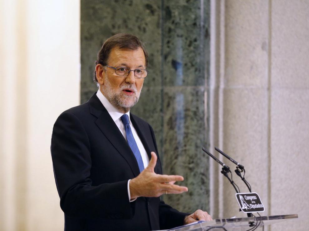 Rajoy en su comparecencia en el Congreso.