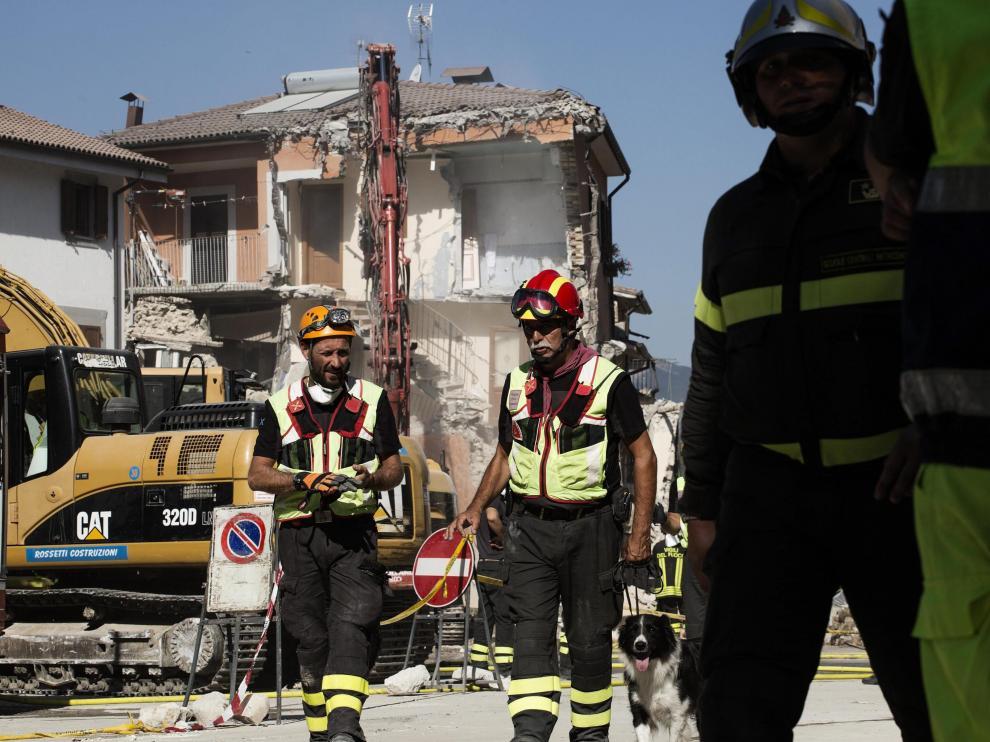 Secuelas del terremoto en Amatrice.