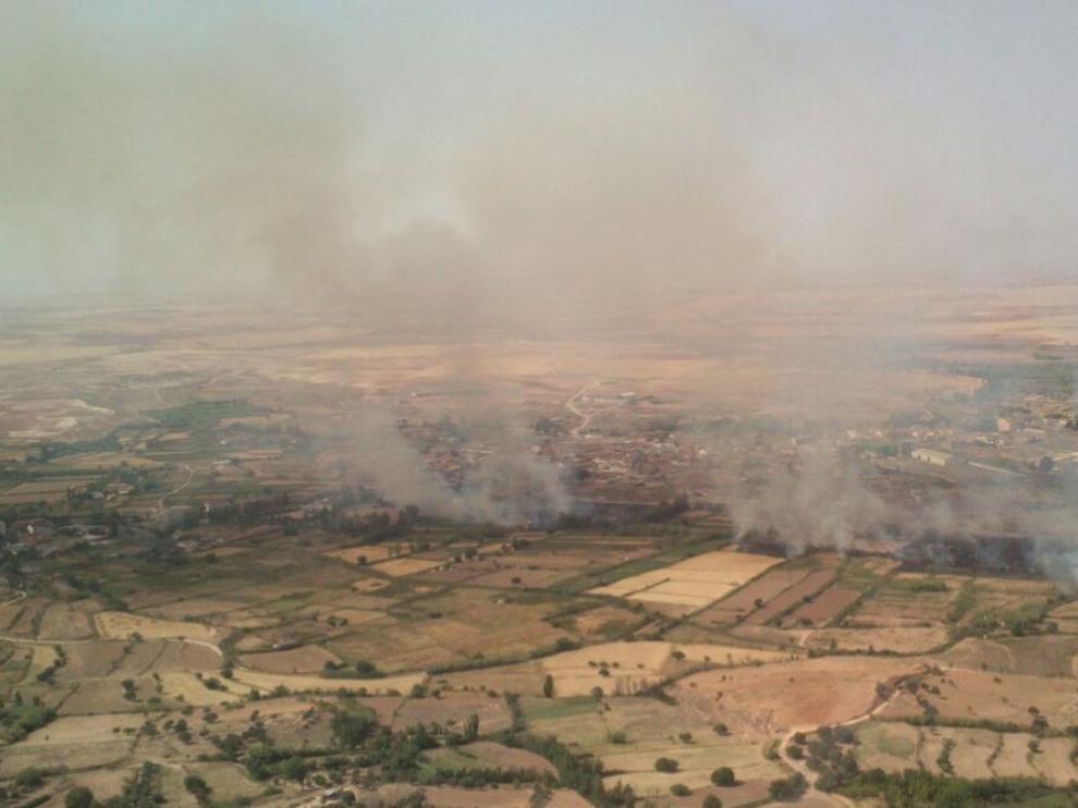 Incendio de al menos 6 focos en la Puebla de Híjar
