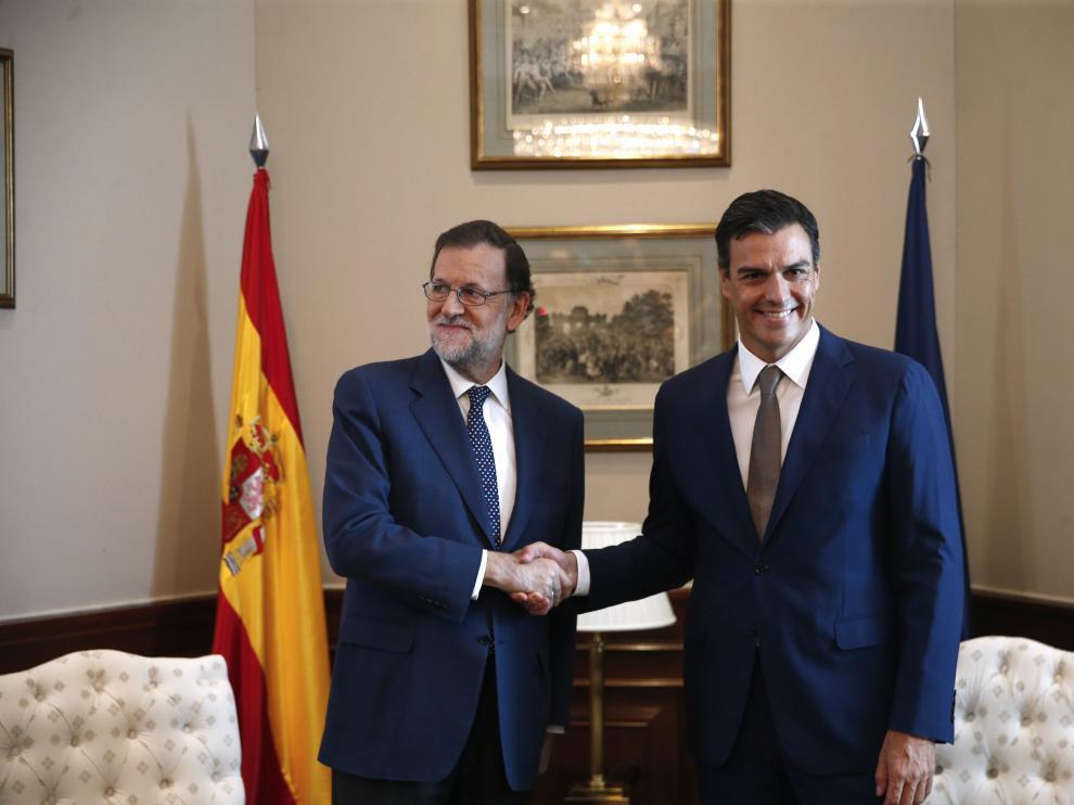 Mariano Rajoy se reunió el lunes con Pedro Sánchez.
