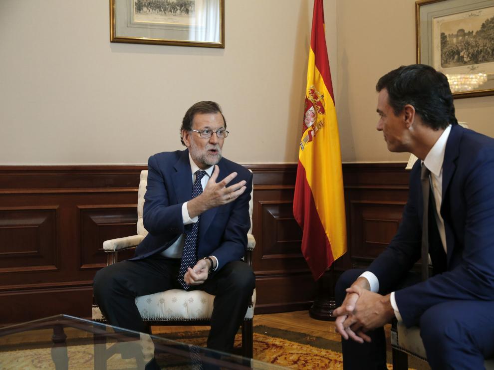 Reunión de Rajoy y Sánchez este lunes.