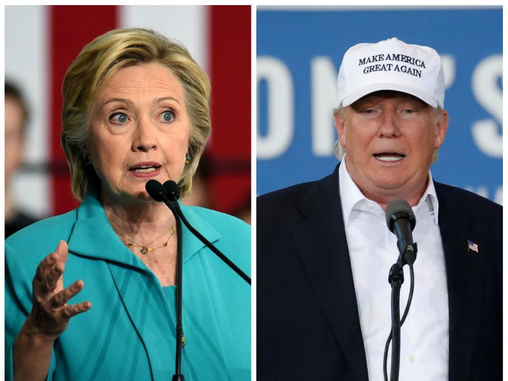 Hillary Clinton y Donald Trump.