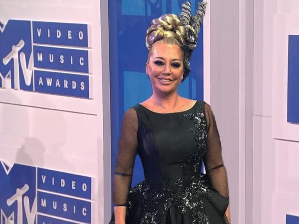 El fotomontaje que situó a Belén Esteban en la gala de los MTV Video Music Awards.
