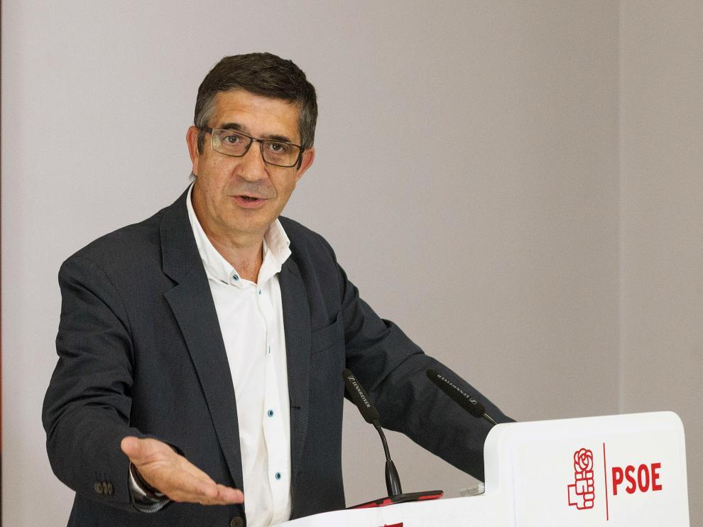 El secretario de Relaciones Políticas del PSOE, Patxi López.