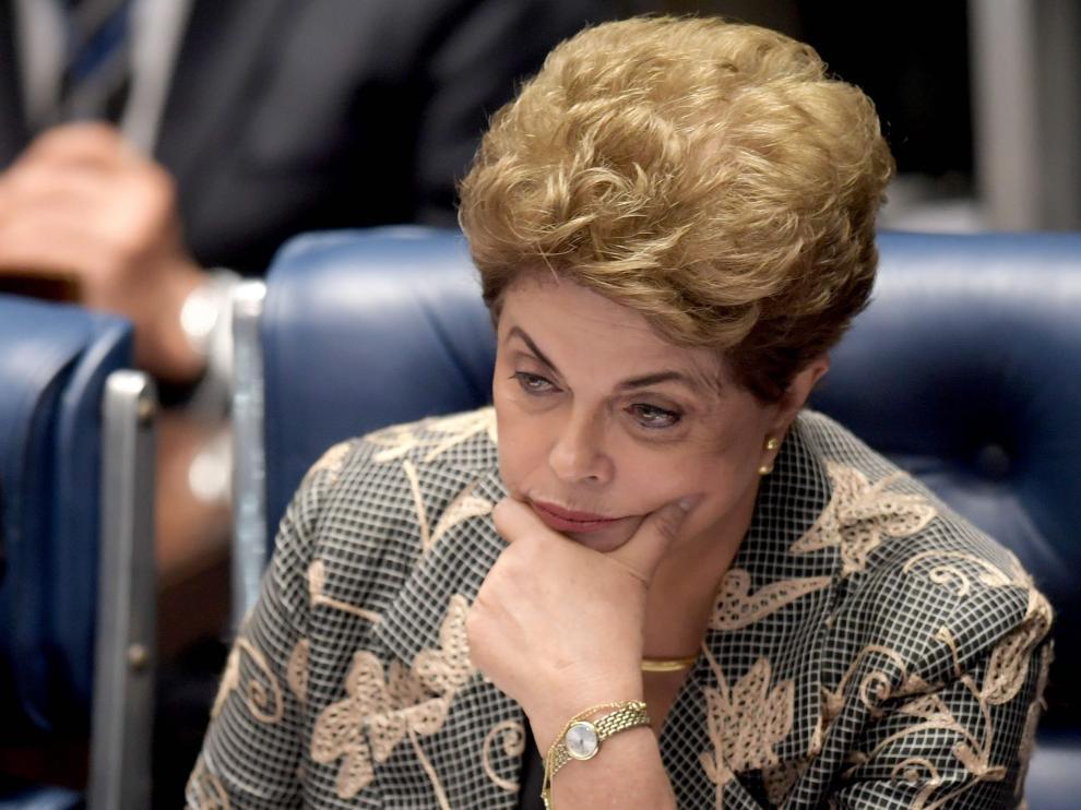 Rousseff durante el juicio.
