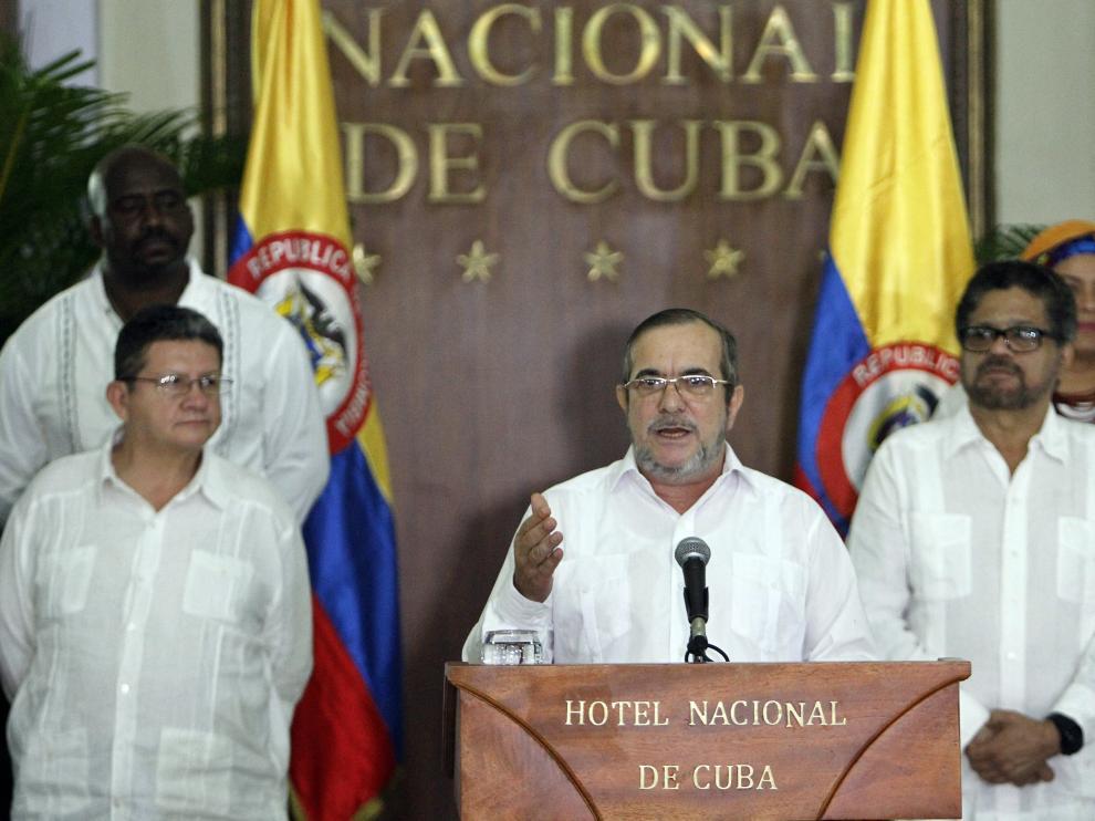 Timochenko, durante su declaración en La Habana