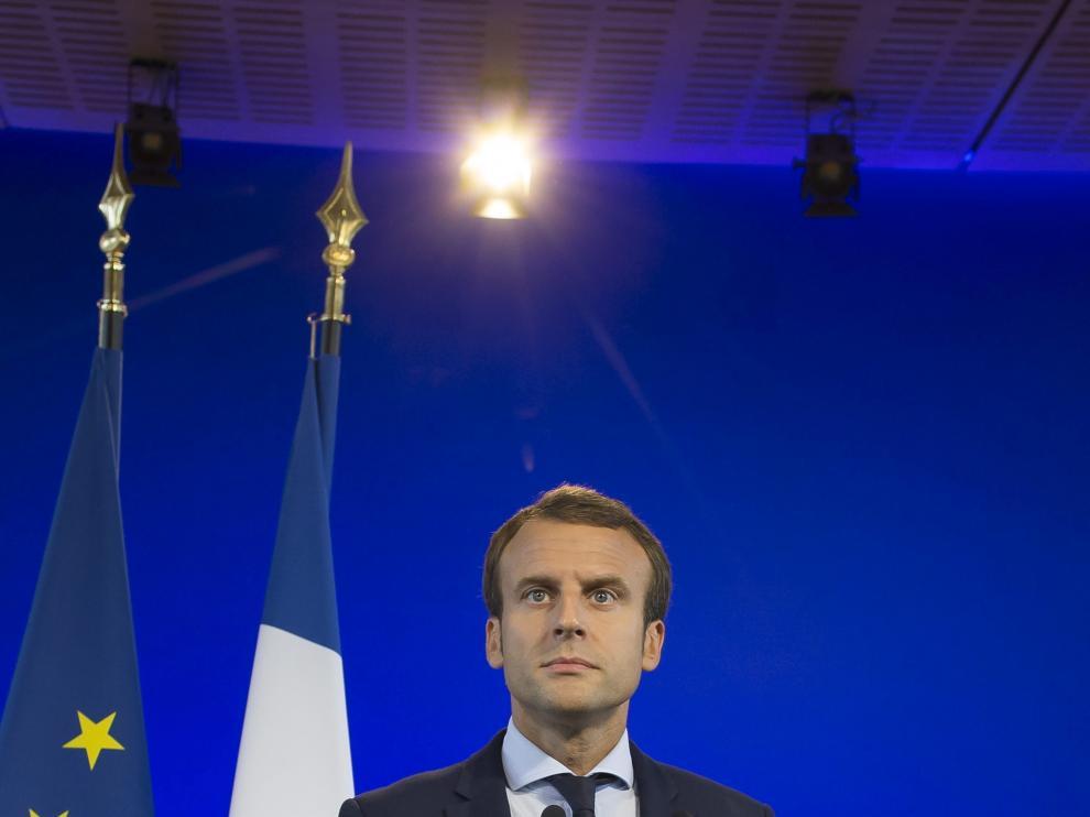El candidato a la presidencia de Francia, Emmanuel Macron