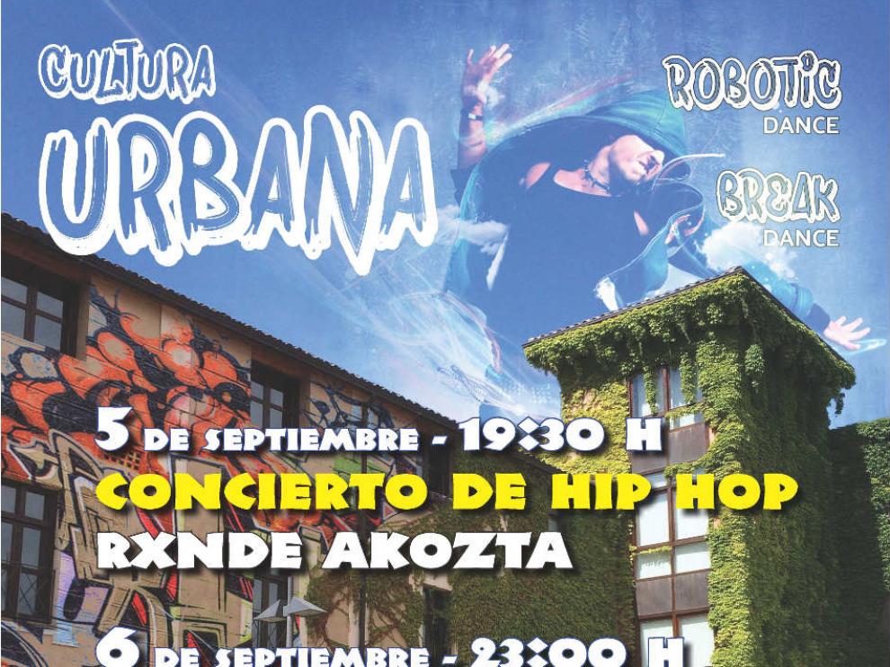 Cartel del Festival Joven de Cultura Urbana de Barbastro.