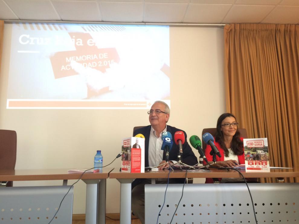 El presidente provincial de Cruz Roja Soria, Modesto Fernández, durante la presentación de la Memoria de Cruz Roja Soria de 2015