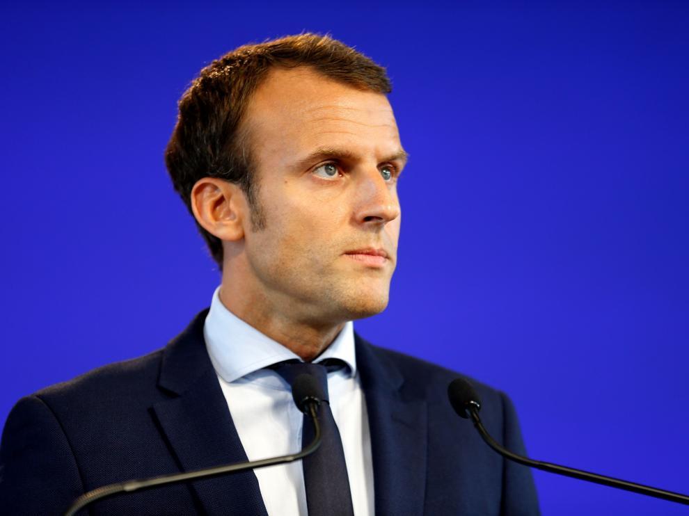 El exministro francés de Economía Emmanuel Macron