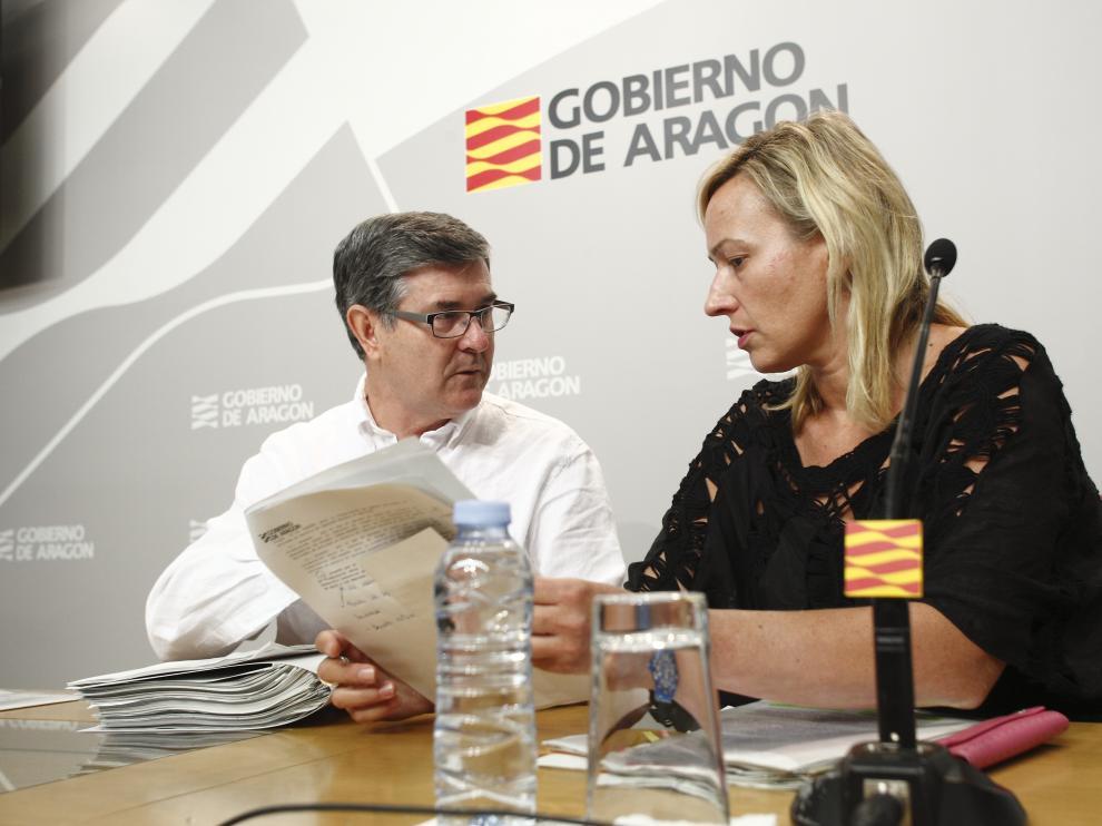 Rueda de prensa del Consejo de Gobierno de Aragón