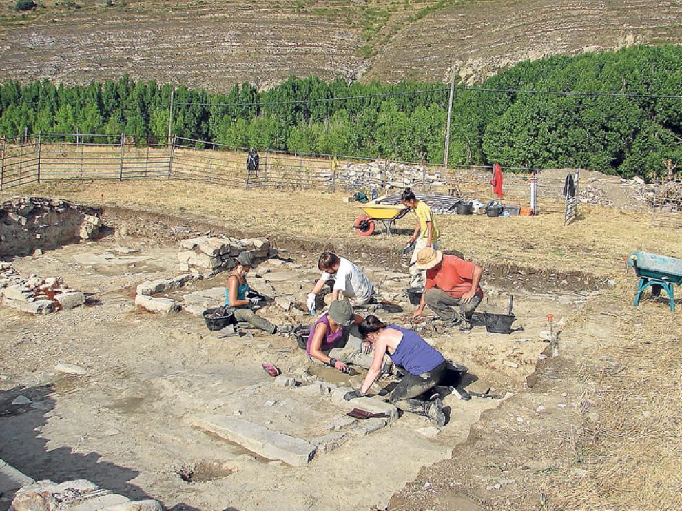 Una imagen del yacimiento arqueológico de Los Casares.