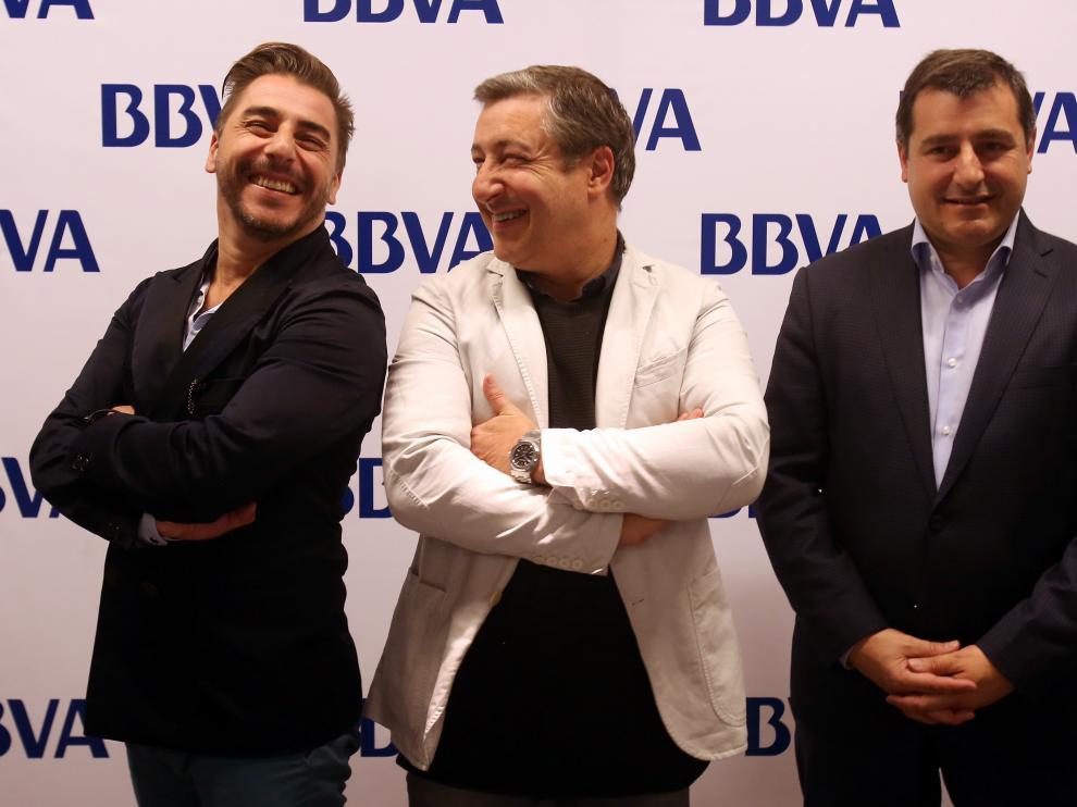 Jordi, Joan y Josep Roca durante una rueda de prensa en Santiago de Chile.
