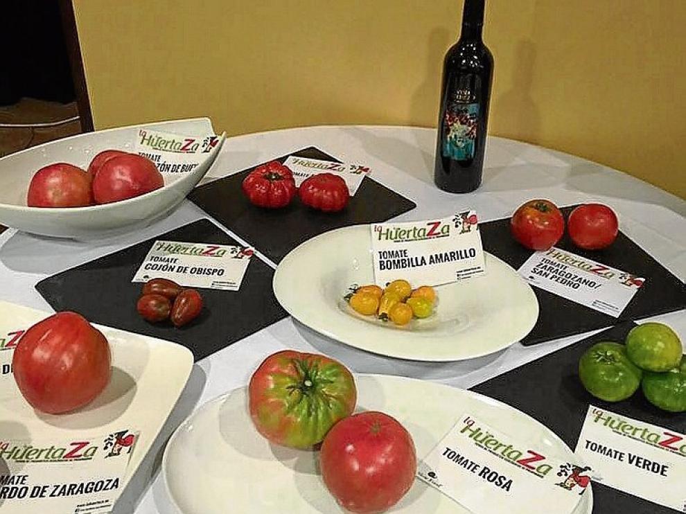 Algunas variedades de tomate de la cata de la pasada edición.