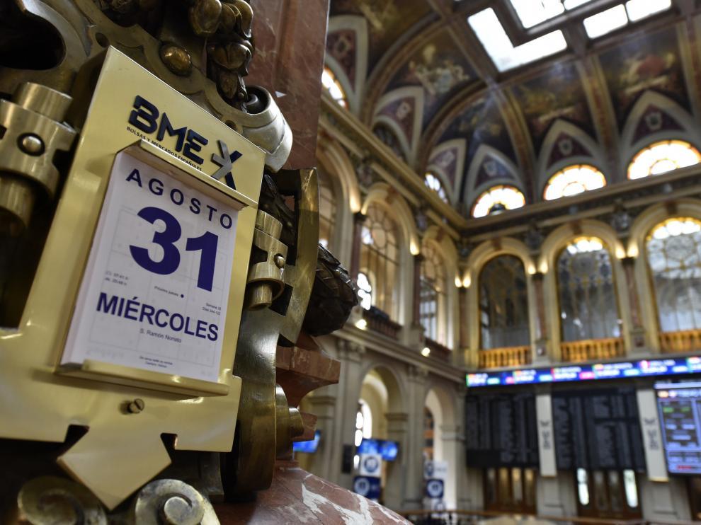 La Bolsa española cierra su mejor agosto desde 2012 animada por la banca