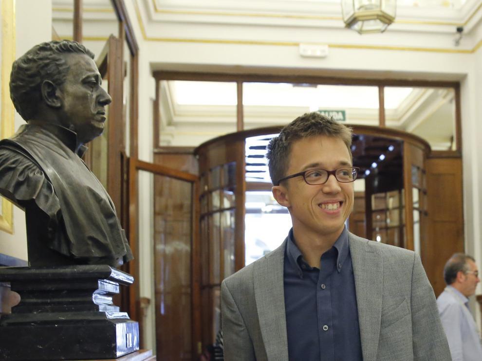 El portavoz de Podemos en el Congreso, Íñigo Errejón.