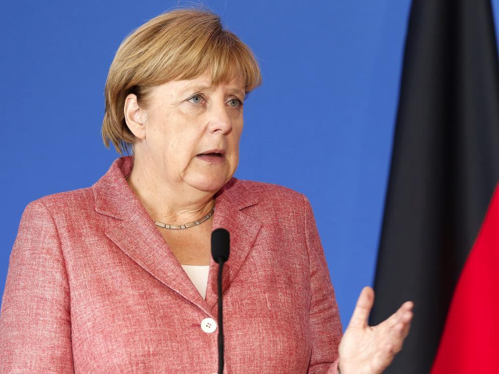 Merkel, en una comparecencia reciente.
