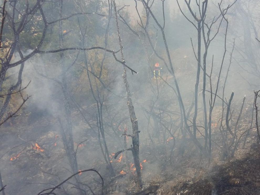 Zona afectada por el fuego.