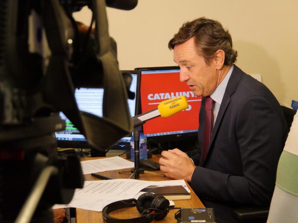 Rafael Hernando, esta mañana durante una entrevista.
