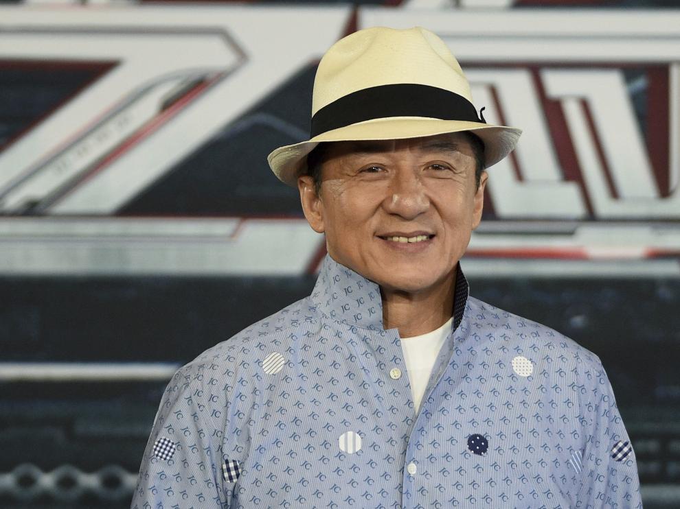 Jackie Chan durante la presentación de la película 'Bleeding Steel' en Sidney.