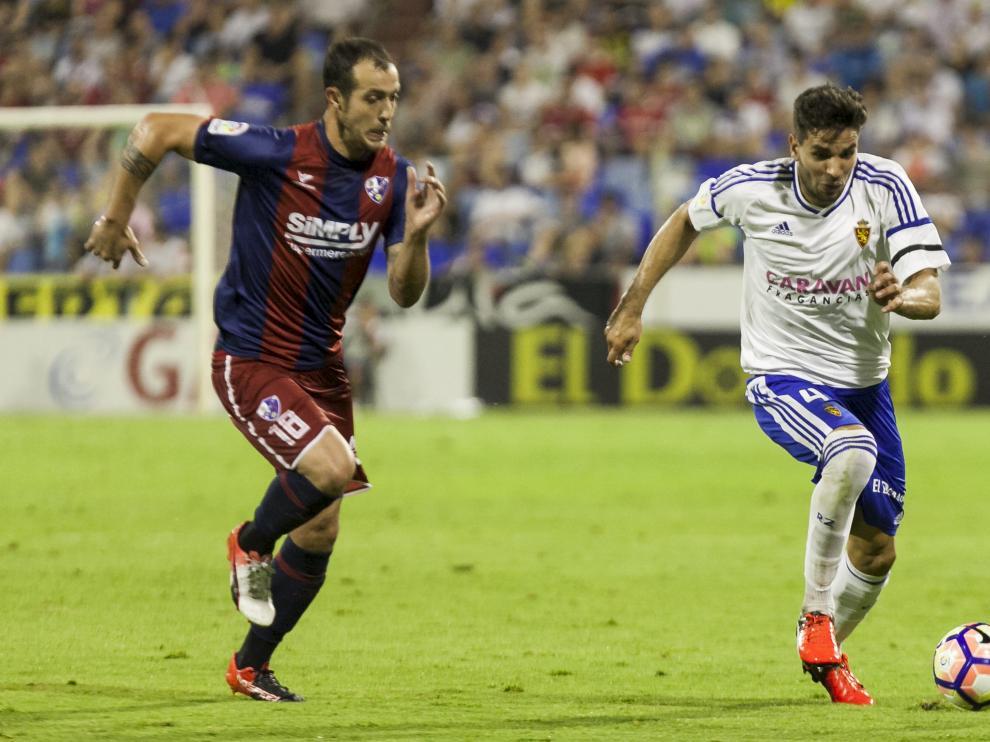 Cabrera, durante el partido contra el Huesca