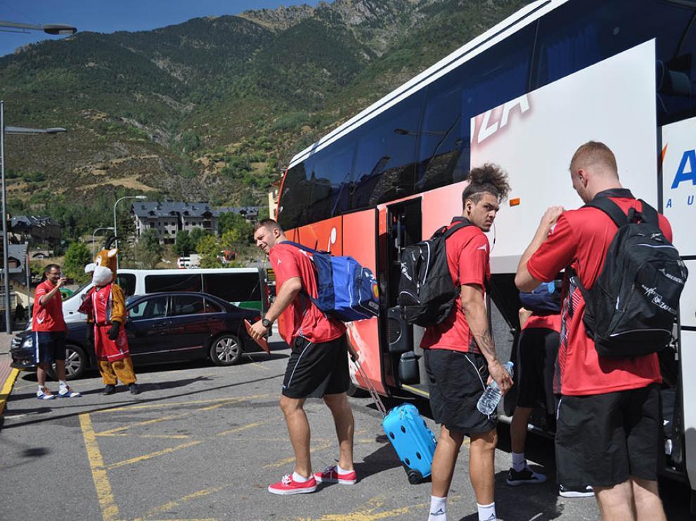 El CAI Zaragoza en su llegada a Benasque