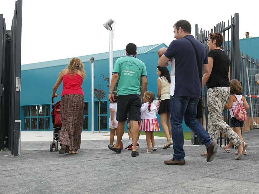 Fotos del primer día de curso en los colegios aragoneses