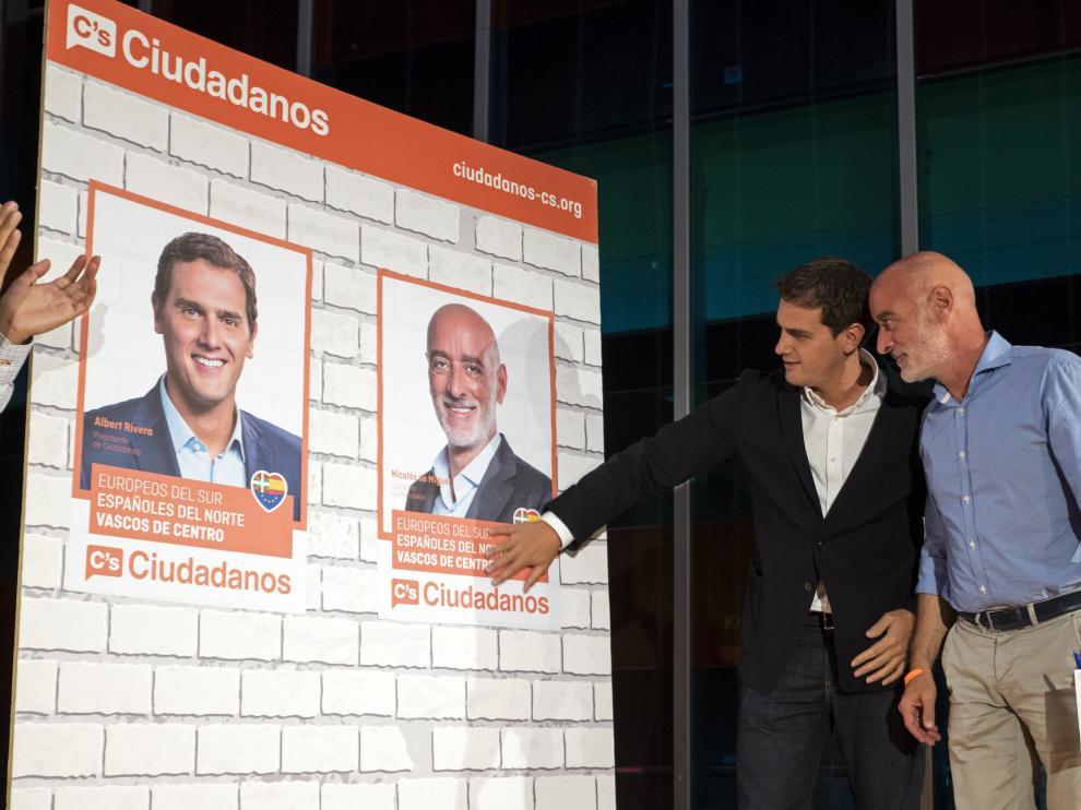Albert Ribera junto a Nicolas de Miguel, candidato de Ciudadanos a las elecciones vascas
