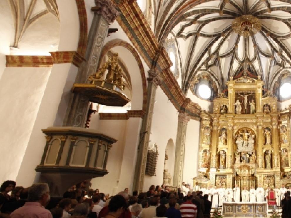 Inauguración de la restauración de la catedral de Albarracín